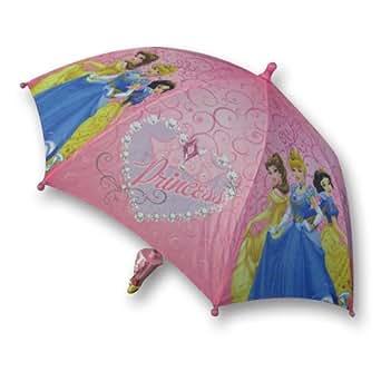 Disney Princess Girl's Pink Umbrella with 3D Handle