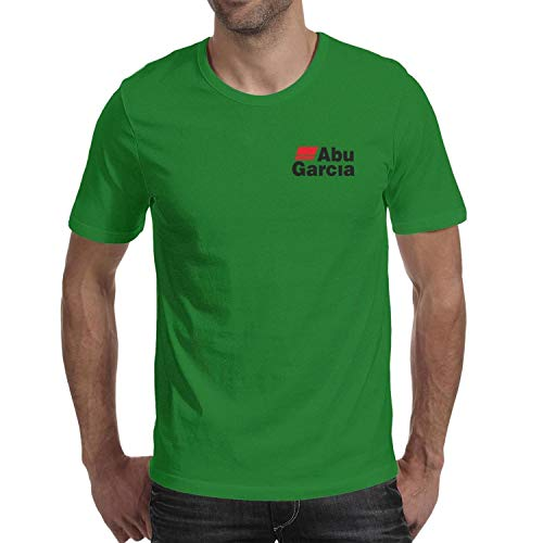 Men's Casual Fishing-ABU-Garcia-Logo-Breathable T Shirts Funny Round Neck T-Shirts