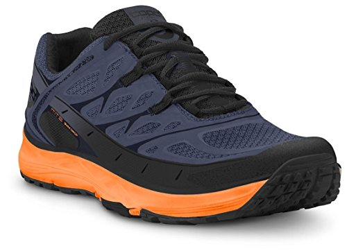 Topo Athletic MT-2 Trail-Running Shoe - Men's Blue/Mango 10.5