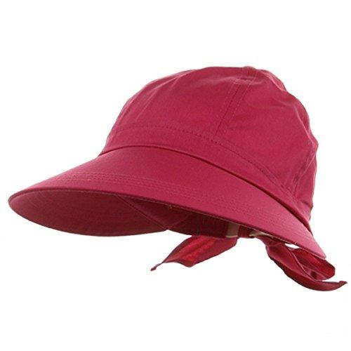 Fuchsia Pink Wide Brim Peak Gardening Sun Hat