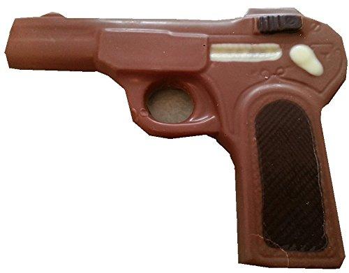 09#072817 Schokoladen Pistole, Vollmilch, Schütze, Waffe, Krimidinner, Geburtstag, Geschenke, Dinner Krimi, schiessen,