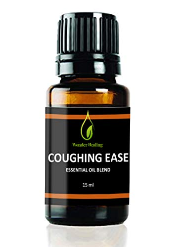 Coughing Ease - 100% Natural Essential Oil Blend. Relief for Cough & Cold, Wheezing, Bronchitis, RSV, by Wonder Healing (15 ml)