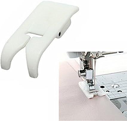 Prensatela para coser edredones y patchwork con guía de borde para máquinas de coser domésticas, 0,63 cm, color plateado: Amazon.es: Electrónica