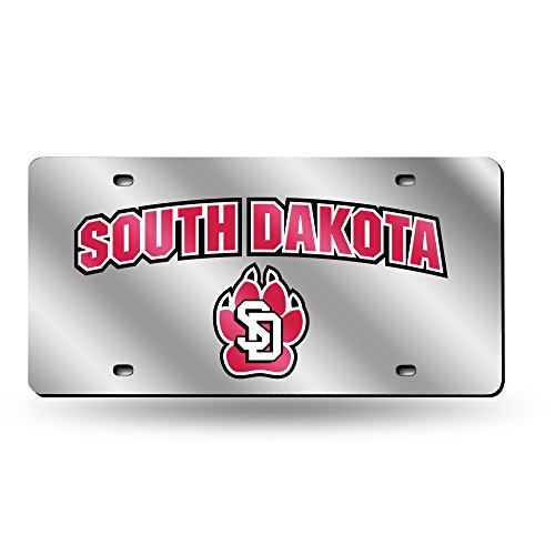 (Rico Industries NCAA South Dakota Coyotes Laser Inlaid Metal License Plate Tag, Silver)