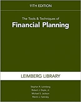 Tools & Techniques of Financial Planning 11th edition (Tools and Techniques of Financial Planning)