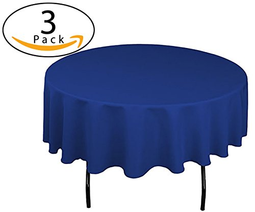 Minel Disposable Party Table Cloths Round 84 Inches