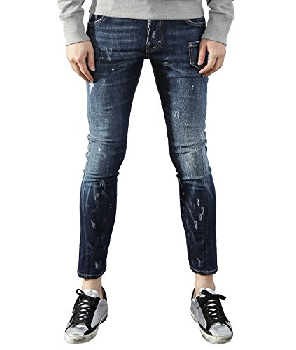DSquared2 Men's Six Pocket Damaged Sexy Twist Fit Jeans 46 (Acne Jeans Skinny Jeans)