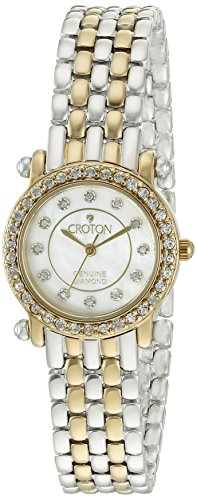 Diamond Ladies Watch Croton (CROTON Women's CN207535TTMP Analog Display Quartz Two Tone Watch)
