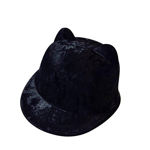 Automne D'équitation Velours Visière Casquette Hiiver Oreille Acvip Motif Noir Chapeau Enfant Unisexe 1UAcywazf