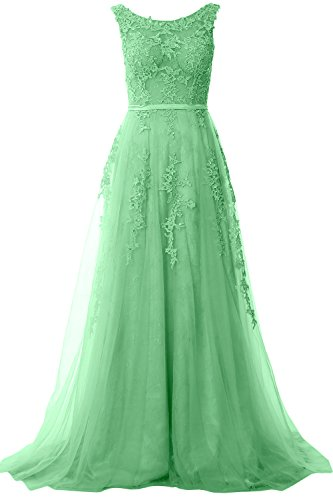 Vintage Formal Lace Neck Wedding Boat Party Dress Long Gown Prom Elegant MACloth Minze qF0HnvAt