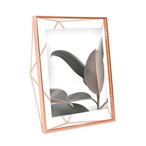 Umbra Prisma Picture Frame, 8x10 Photo Display for Desk or Wall, Copper
