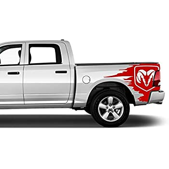 Amazon Com 2002 2018 Any Truck 4x4 Rear Side Bed Decals