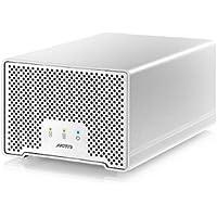 Akitio Neutrino Thunder D3 512GB SSD (256GB x 2) w/ Transfers Speed of 770Mb/s
