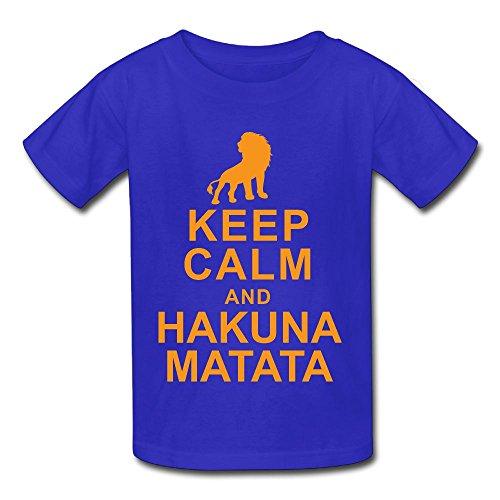 QTHOO Keep Calm and Hakuna Matata Baby's O Neck Short Sleeve Tee ()
