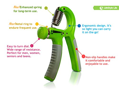 Grip Strengthener Forearm Exerciser Hand Strength Grips with Adjustable Resistance 22 88 Lbs for Finger, Wrist and Arm Training (Green)