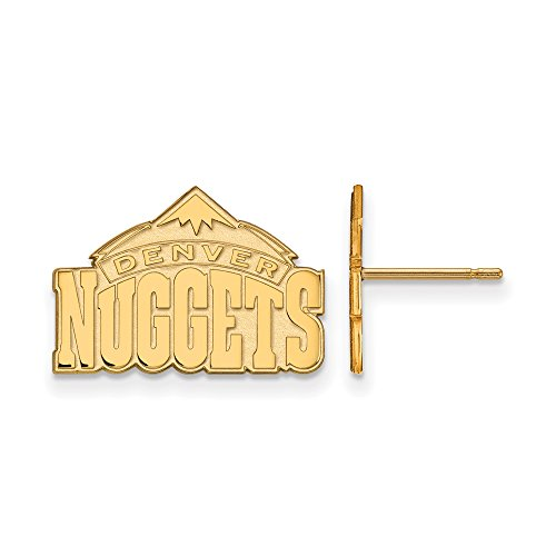 NBA Denver Nuggets Post Earrings in 10K Yellow Gold by LogoArt