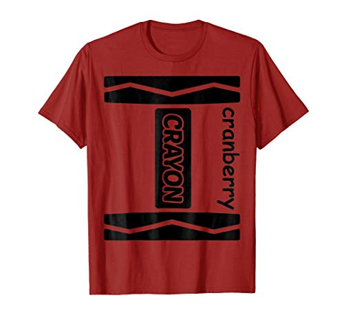 Cranberry Crayon Couple Friend Group Halloween Costume Shirt -