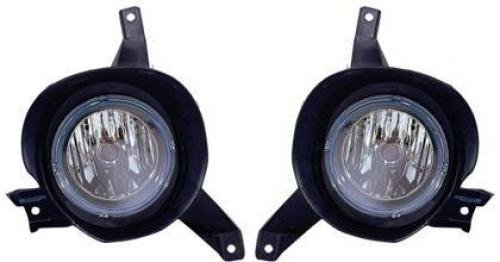 Go-Parts Pair/Set - Compatible 2001-2005 Ford Explorer Sport Trac Fog Lights Lamps Assemblies Replacements Housing/Lens / Cover - Left & Right (Driver & Passenger) Replacement for Ford Explorer
