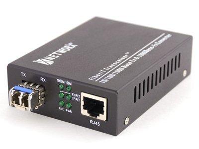 Networx Gigabit Fiber Media Converter - UTP to 1000Base-LX - LC Multimode, 550m, 1300/1310nm - Max Transceiver Multi
