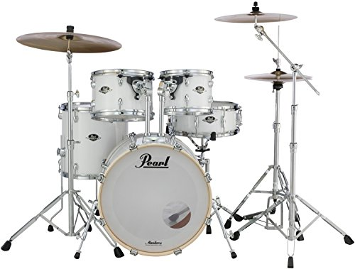 Pearl Export EXX 5-Piece Drum Set With Hardware - Standard Configuration - Pure White ()
