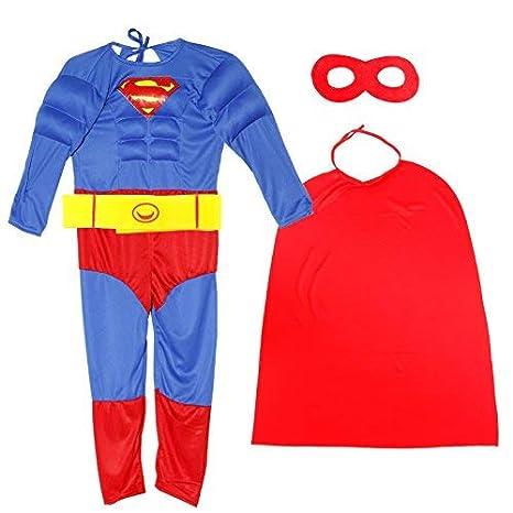 Anladia - Disfraz de Superhéroe Superman Cosplay Traje ...