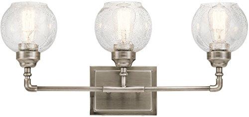 Antique Pewter Bathroom Vanity Light - Kichler 45592AP Niles 24