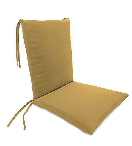 Classic Polyester Outdoor Rocking Chair Cushion with Ties, Seat Cushion 21''W Front/17''W Back x 19''D; Back Cushion 16''W x 20''L - Khaki