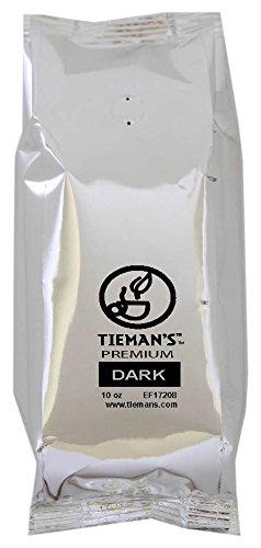 Tieman's Fusion Coffee, Low Acid Dark Roast, Ground, 10-Ounce bag (30 Pack)