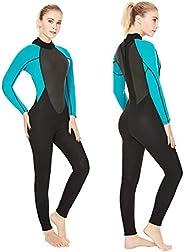 Flexel Women Wetsuit Full 3mm Dive Suit Back Zip 2mm Swimsuit Snorkeling Surfing Fishing Scuba Diving Girls