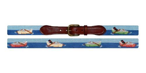 Smathers & Branson Rowboats Needlepoint Belt, Multi - 42 (B-203-42) -