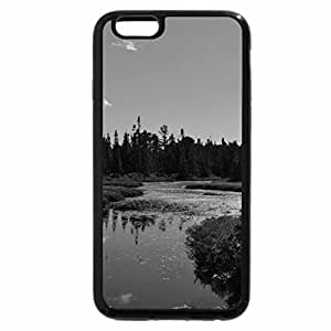iPhone 6S Case, iPhone 6 Case (Black & White) - Narrow River