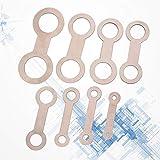 EXCEART 8PCS Sax Repair kit Metal Sax Pad Leveling
