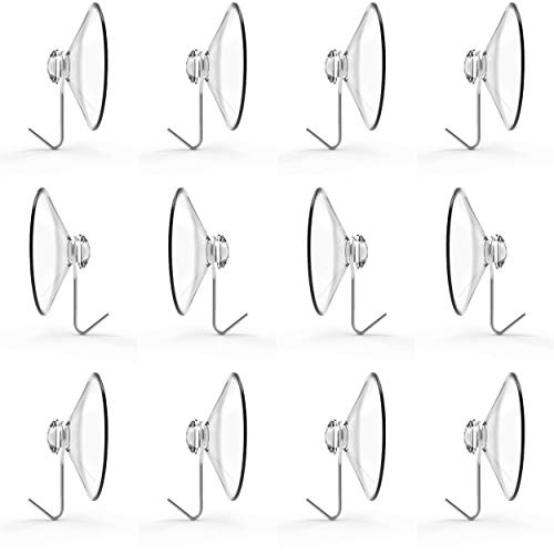 (Suction Cup Hooks, Set of 12, 2
