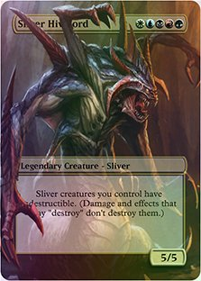 Sliver Hivelord - Casual Play Only - Customs Altered Art Foil