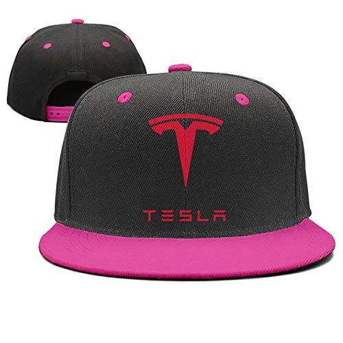 NIDHBD Graphic Tesla-Logo-Symbol-Emblem- Rose-red Golf Cap Womens Mens
