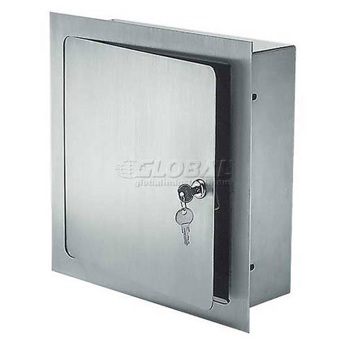Acudor Recessed Valve Box Prime Coated, Stainless Steel, 8x8x6 (Panel Recessed Stainless Control Steel)
