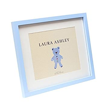 Amazoncom Laura Ashley Blue Baby Boy Frame With White Mat 11x14