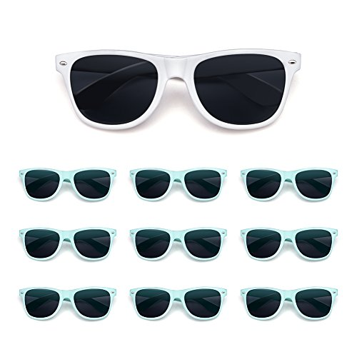 10 Pack Bride and Bridesmaid Sunglasses,Perfect for Bachelorette Party,Wedding,Bridal Party for $<!--$22.30-->