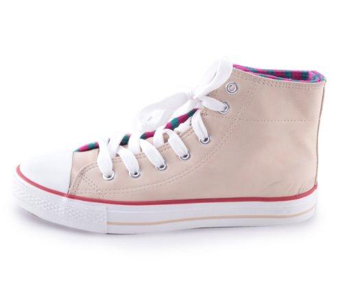 Mixmatch24 8138 - Zapatos de cordones para mujer beige - beige