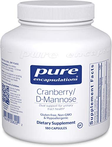 Pure Encapsulations – Cranberry D-Mannose – Hypoallergenic Supplement to Support Urinary Tract Health – 180 Capsules
