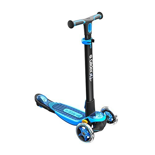 Yvolution Y Glider XL Deluxe | 3 Wheel Scooter for Kids Age 3-8 Years with Safety Brake Blue