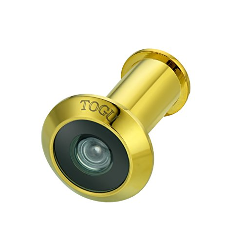 TOGU TG1612-3016NG-PVD Brass UL Listed 220-degree Door Viewer for 1-3/8