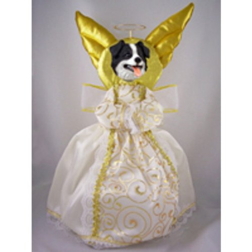 Border Collie Doogie Collection Angel Tree Topper (Ornament Collie Dog Angel)