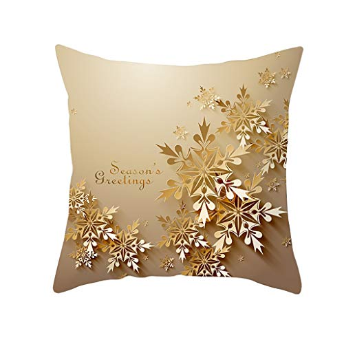 MIS1950s Christmas Throw Pillow Cases Decorative Glitter Cushion Covers for Bed/Sofa/Car,18 x 18 inch