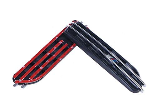 General Mega 1 Pair Black Side Fender Grille Vent Air Flow Exterior All BMW M E46 E90 3 Series