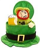 Sombrero para disfraz San Patricio Irlanda Eire en verde con duende