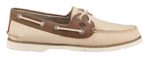 Sperry Top-Sider - Scarpe da Barca Leeward Chambray Uomo Off White Tan