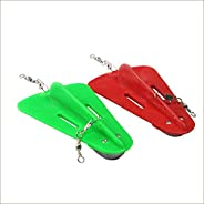 CLENEW 2 Pieces Diving Board Fishing Trolling Adjustable Artificial Bait Diver Plate Lead Swivel Fishing Tool