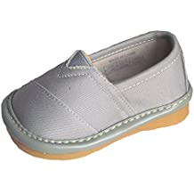 Squeaky Shoes Toddler Boys Grey Leather Toms Style Shoes