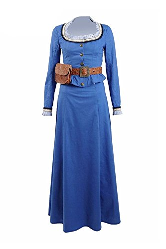 Good Female Comic Con Costumes (2016 Hot TV Drama Western Women Costume Blue Dress Cosplay Outfit (US Women-M, Blue))